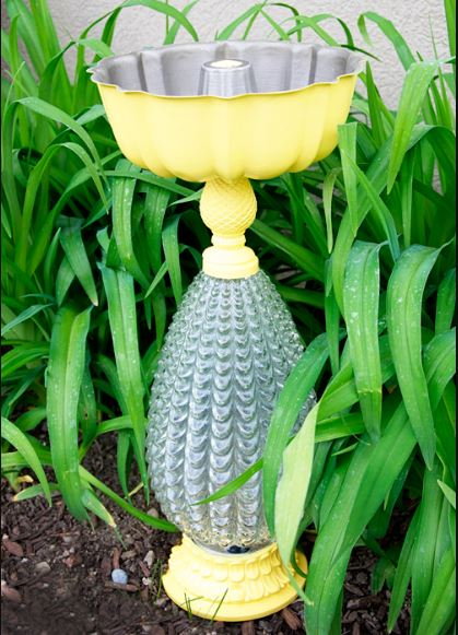 Lamp Bird Bath