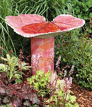 Large leaf DIY Bird Bath