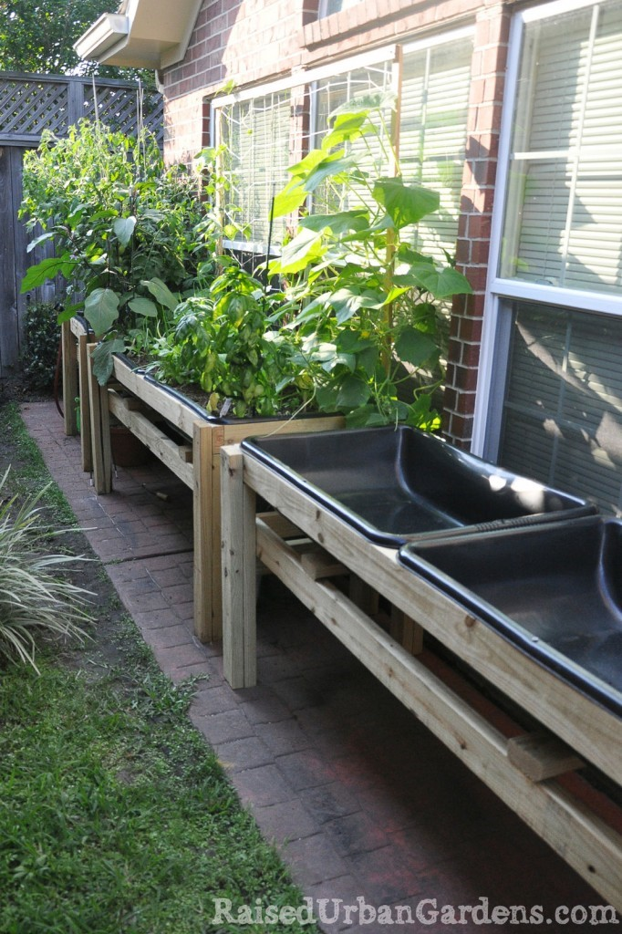 Raised container gardening idea