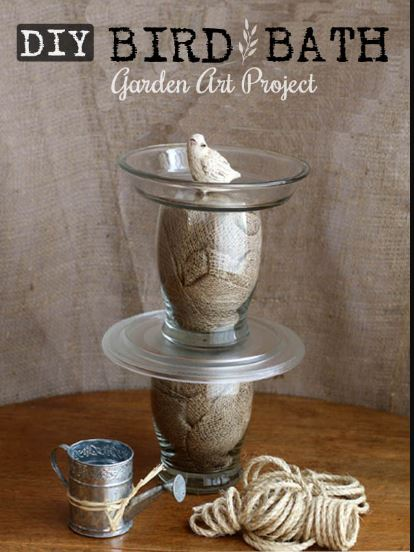 Sea Shell DIY Bird Bath
