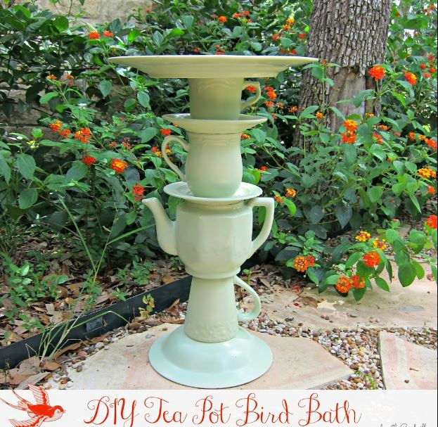 Tea Pot DIY Bird Bath