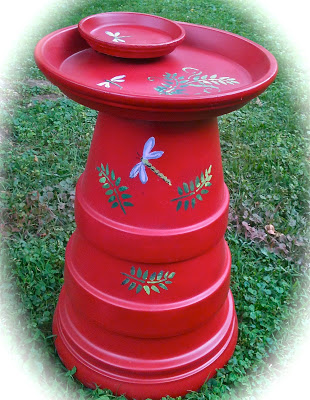 Terra Cotta DIY Bird bath