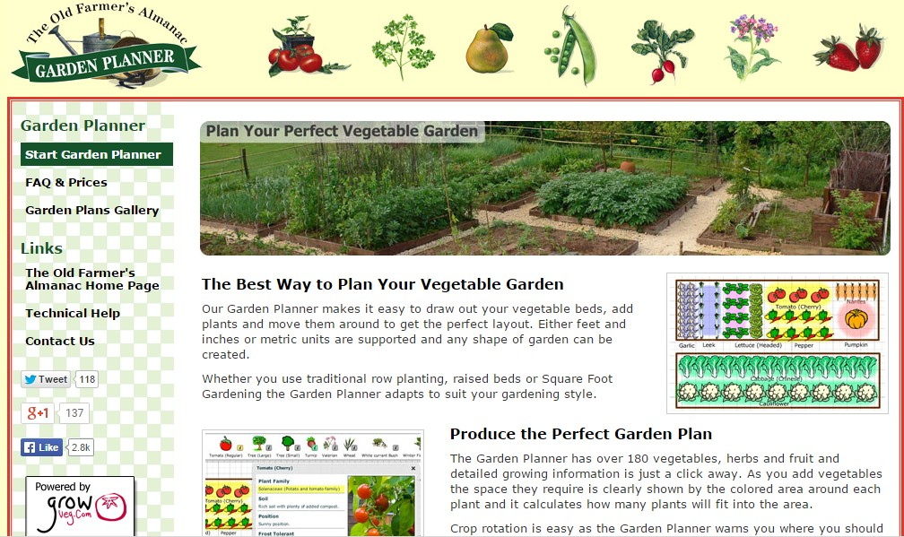 Garden layout tool garden planner software for garden for Online software design tool