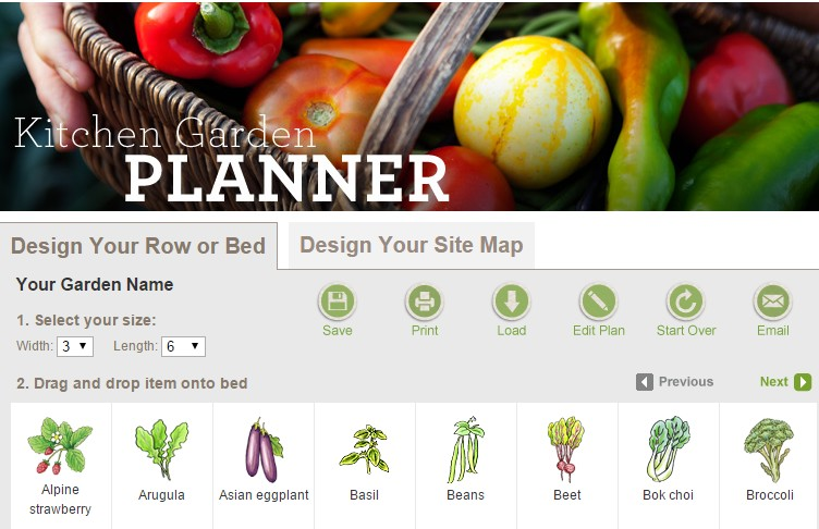 Free Kitchen Vegetable Garden Planner