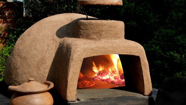 wood burning oven