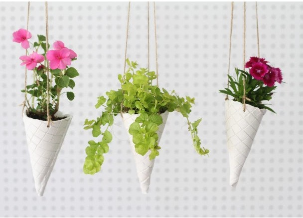 Ice Cream Cone Planter