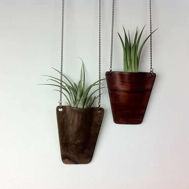 Wooden Planter Pendent