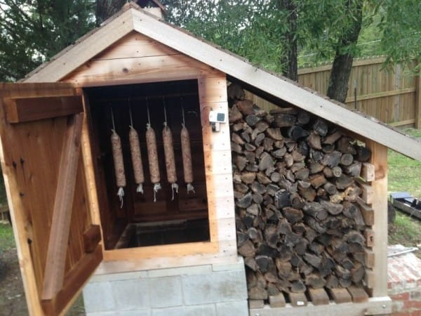 DIY Backyard Smokehouse