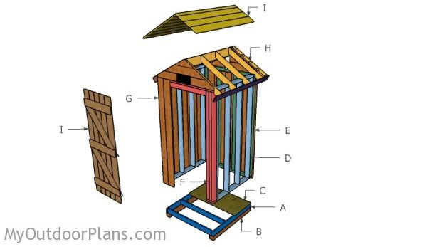 Use Cedar Wood To Build 4×4 Smokehouse