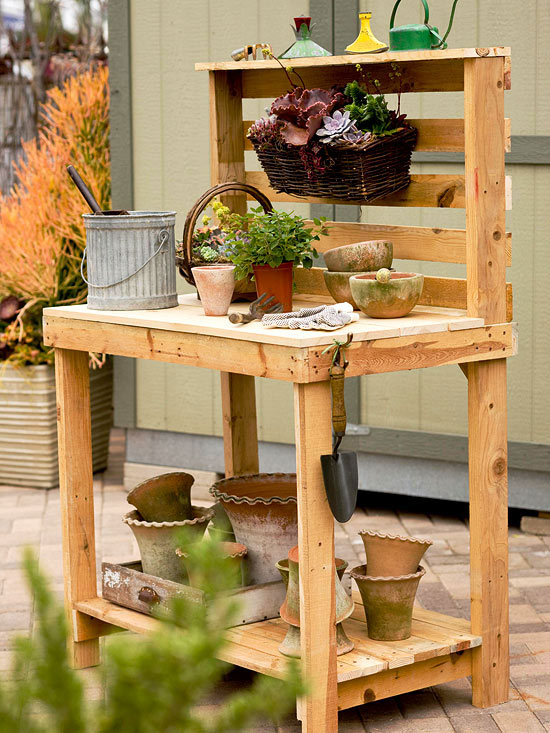 15 Step Potting Bench Plan