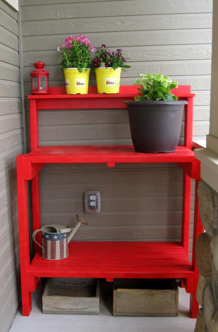 16 Potting Bench Plans To Make Gardening Work Easy The