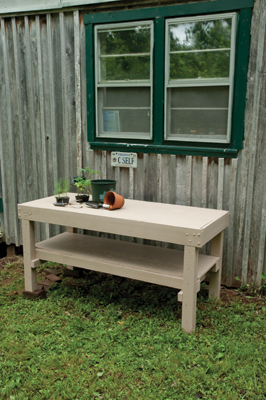 Short Potting Bench Plan