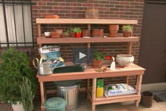 Simple Garden Potting Bench