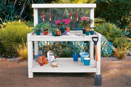 Three Level Potting Bench Plan