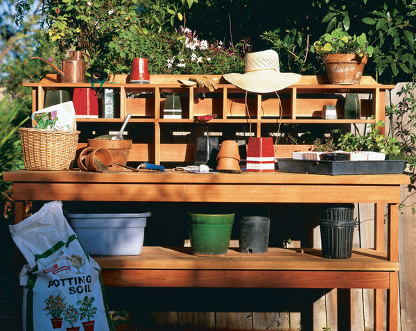 16 potting bench plans to make gardening work easy the self sufficient living Potting bench ideas