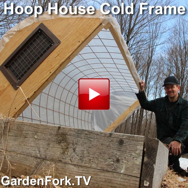 Use Concrete Reinforcing Wire To Make DIY Hoop House Cold Frame