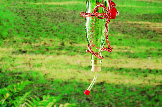 Transform Glass Bottle Into Homemade Hummingbird Feeder