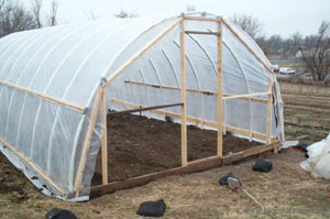 Constructing A Simple PVC High Tunnel (30' long by 18' wide)