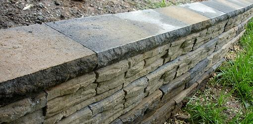Stackable Rock Retaining Wall