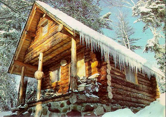 a handsome and sturdy cabin