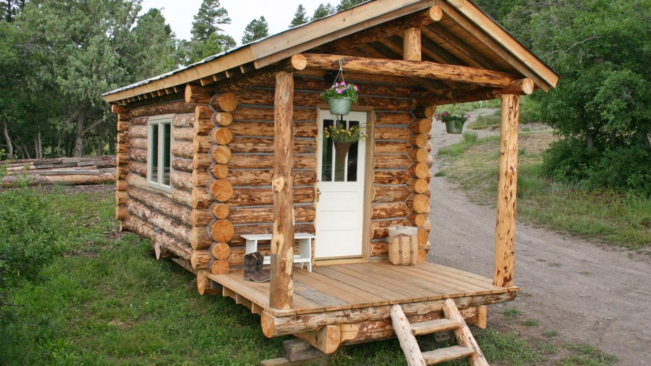 10 diy log cabins build for a rustic lifestyle by hand for Small rustic log cabin plans
