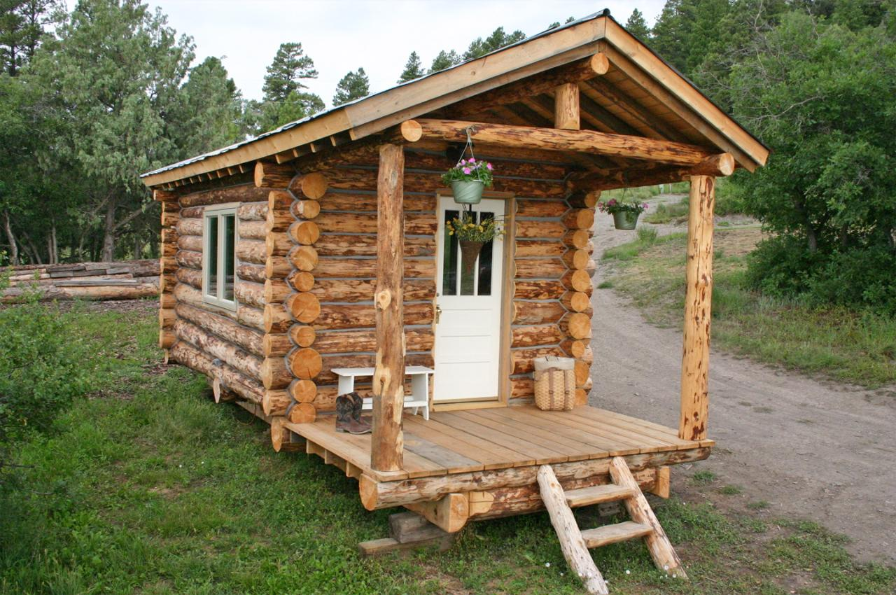 diy log cabin