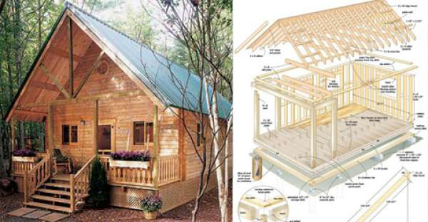 10 diy log cabins build for a rustic lifestyle by hand for Sleeping cabin plans