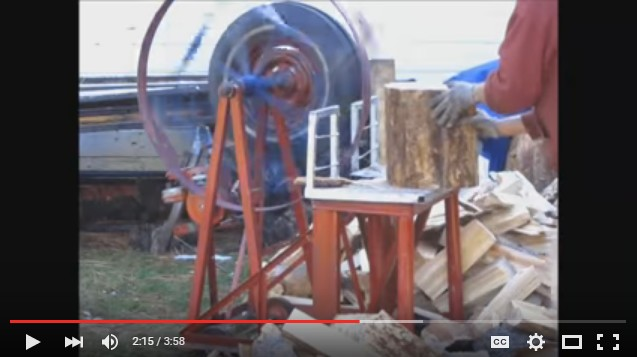Flywheel DIY Wood Splitter