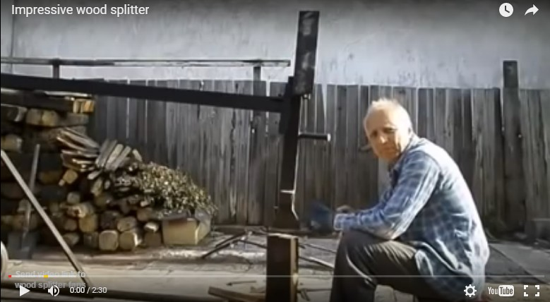 Manual DIY Log Splitter