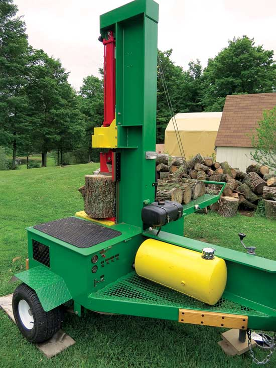 No Lifting Wood Splitter