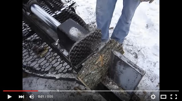 Quick Working Homemade Log Splitter