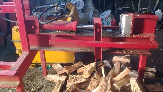 homemade log splitter