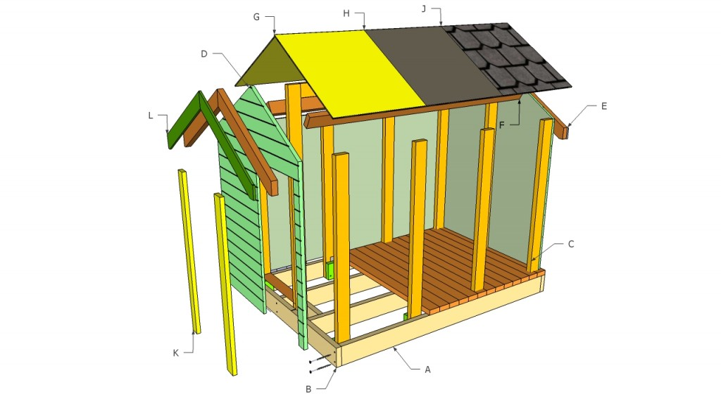 16 diy playhouses your kids will love to play in the for Simple to build house plans
