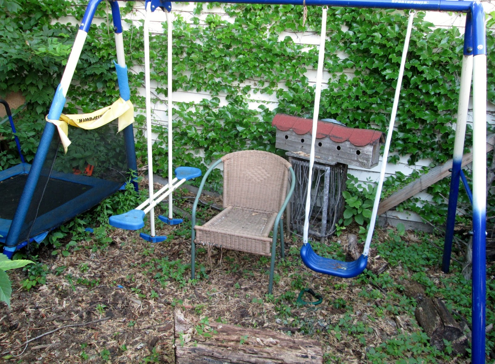 Recycled Swing Set