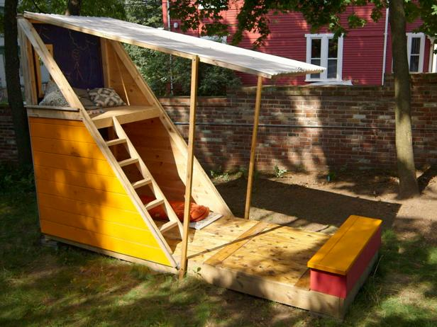 Two Story Outdoor Playhouse