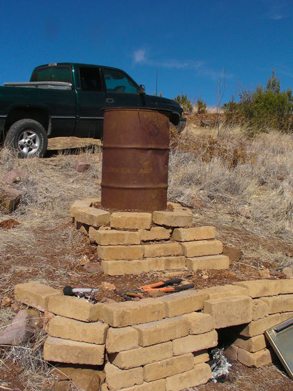 Barrel and Brick Homemade Smoker