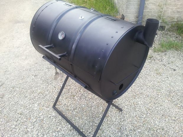 Oil Drum Homemade Smoker