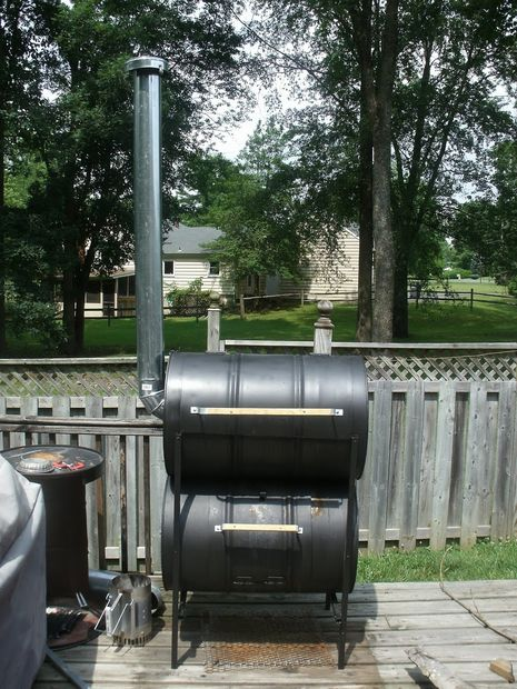 Double Barrel Homemade Smoker
