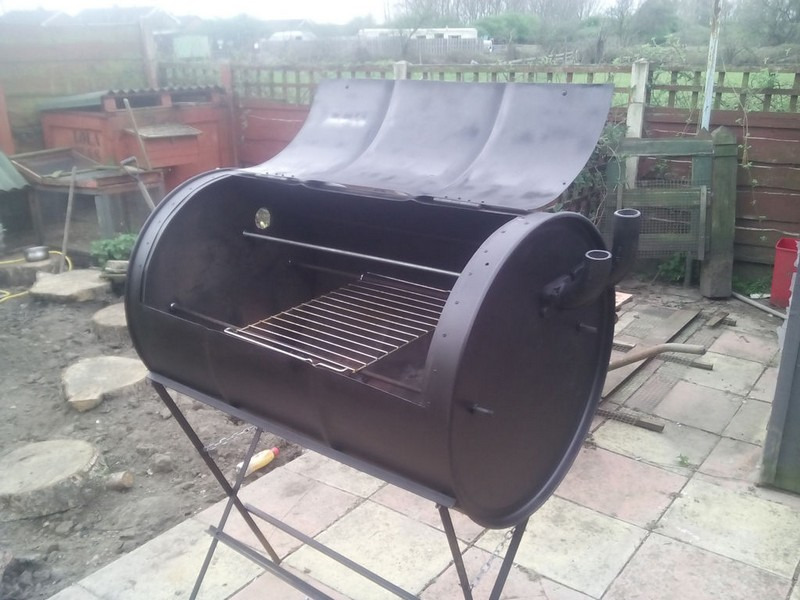 No-Weld Barrel Smoker