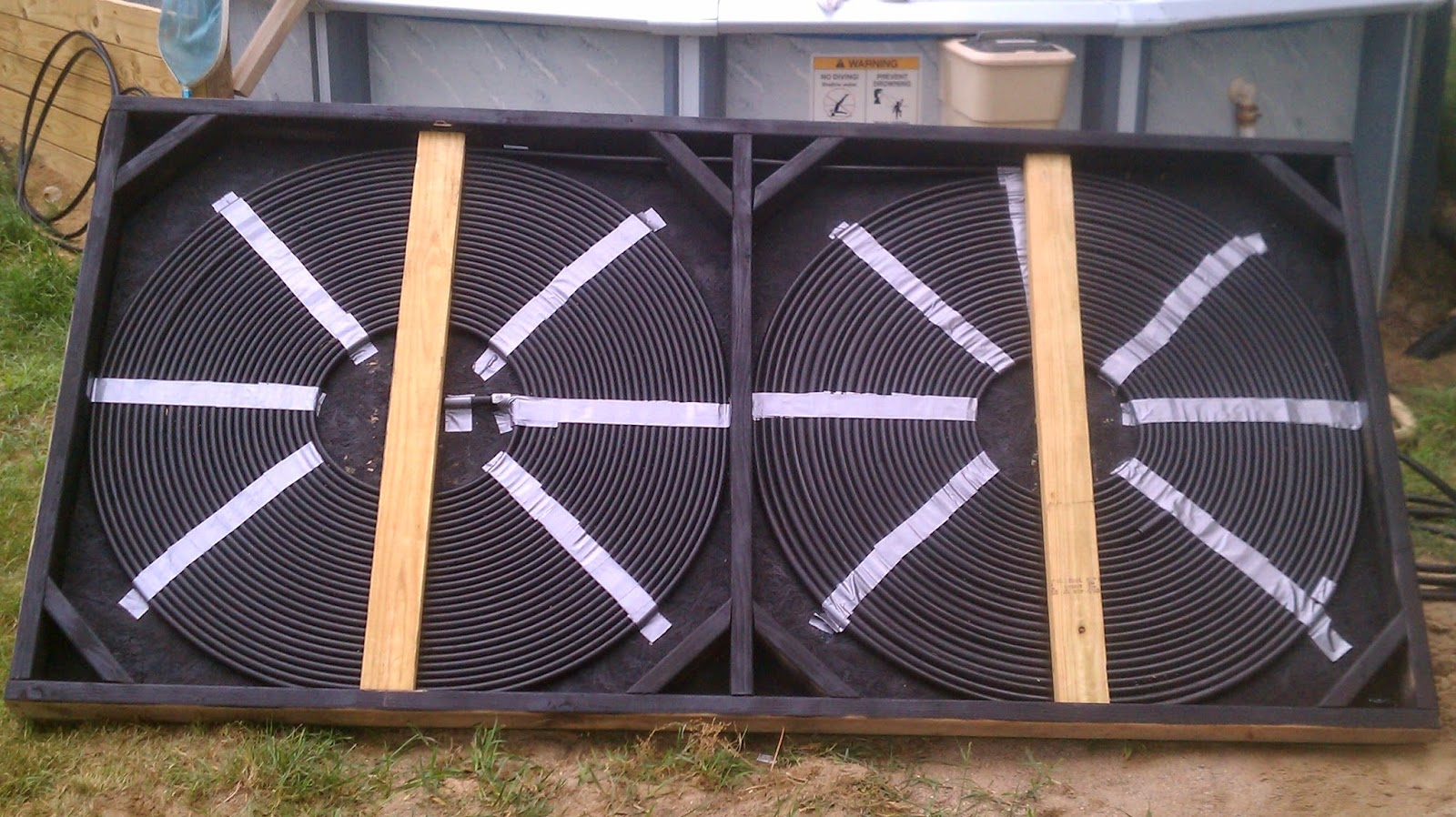 building your own solar pool heater