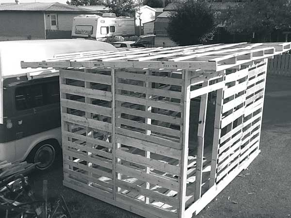 Pallet Wood Garden Shed : Free plans to build a shed from recycle pallet the
