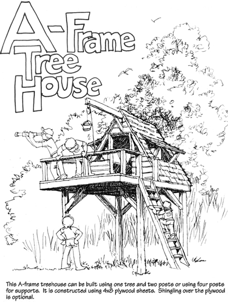 15 lovely diy treehouses make your kids dream come true for Free treehouse plans and designs