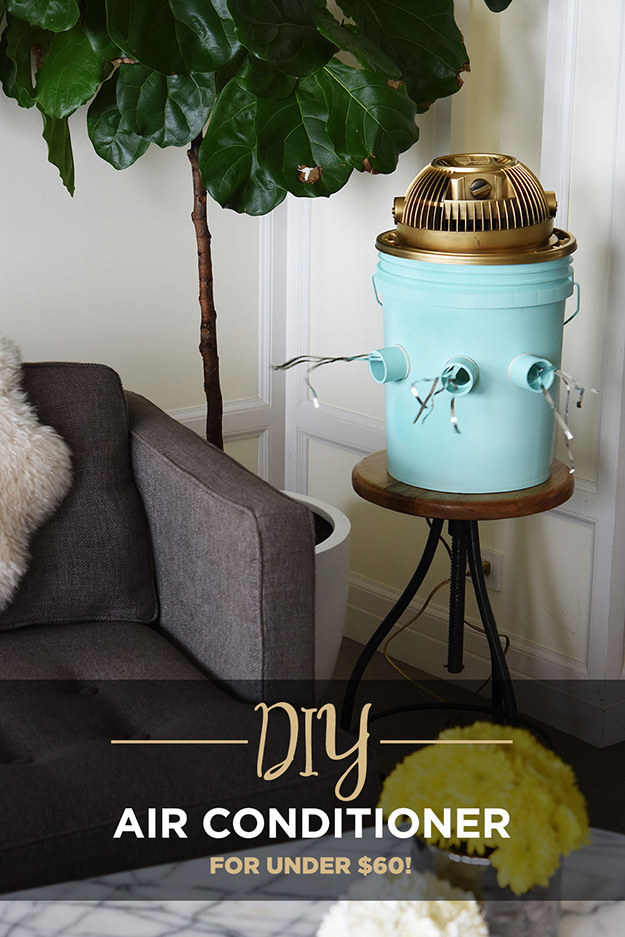 diy bucket air conditioner