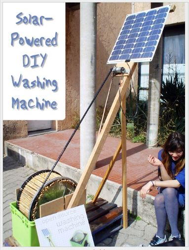 Solar Powered DIY Washing Machine