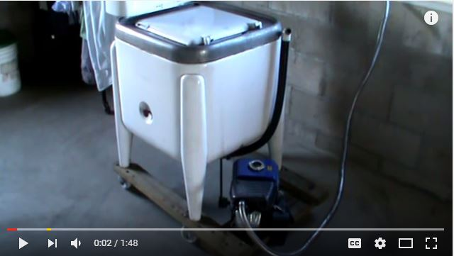 Amish Style Off Grid Washing Machine