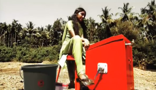 Simple Bicycle Powered Off Grid Washing Machine