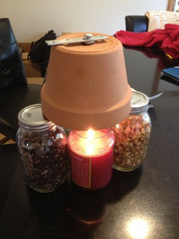 Candle Powered DIY Heater