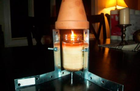 Heating with candles