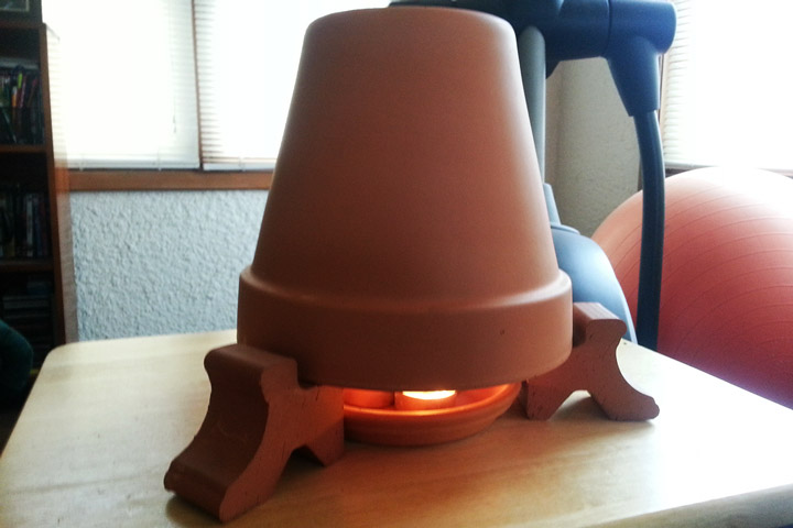 Table Topper Clay Pot Heater