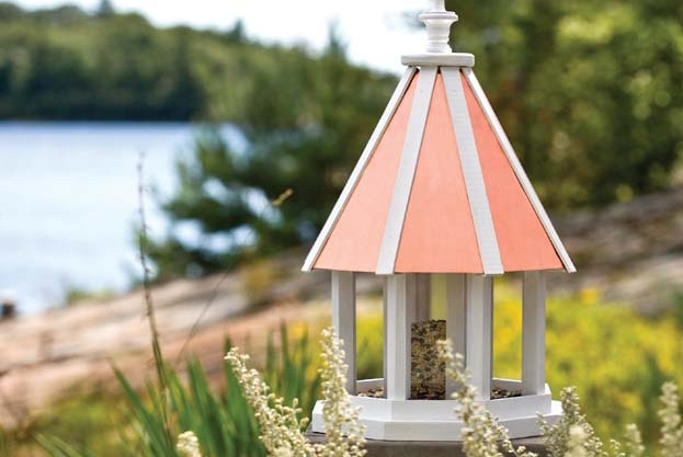 Beautiful Copper Roof Birdhouse